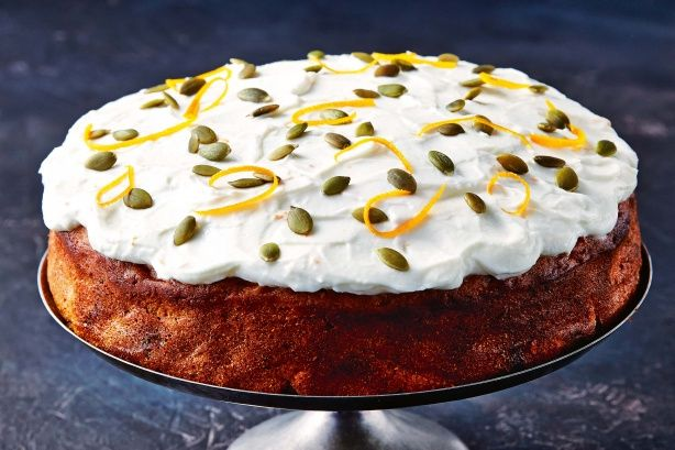 Better-for-you carrot cake  #food #dish #carrot #cake