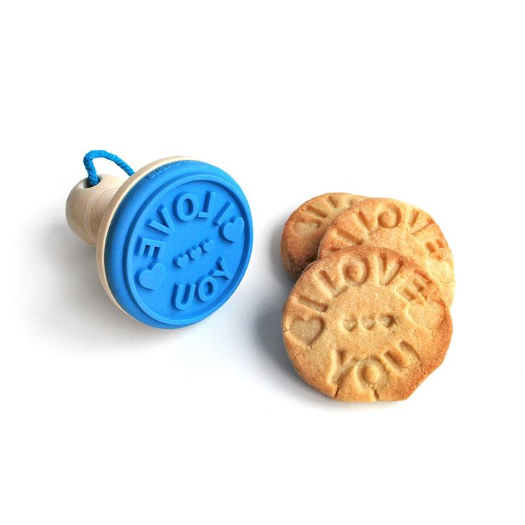 COOKIE STAMP | fun silicone baking accessories message | UncommonGoods I need this for when I make le boyfriend cookies!