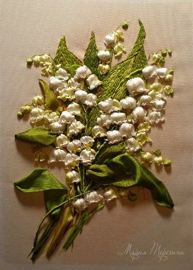 Best ribbon embroidery needle work images on pinterest