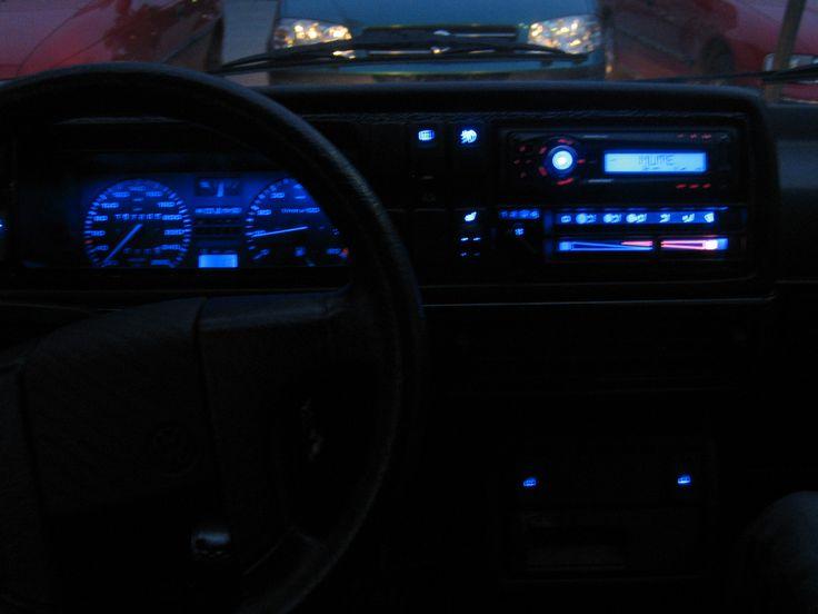 Blue led swap on VW golf GTI mk2 16v