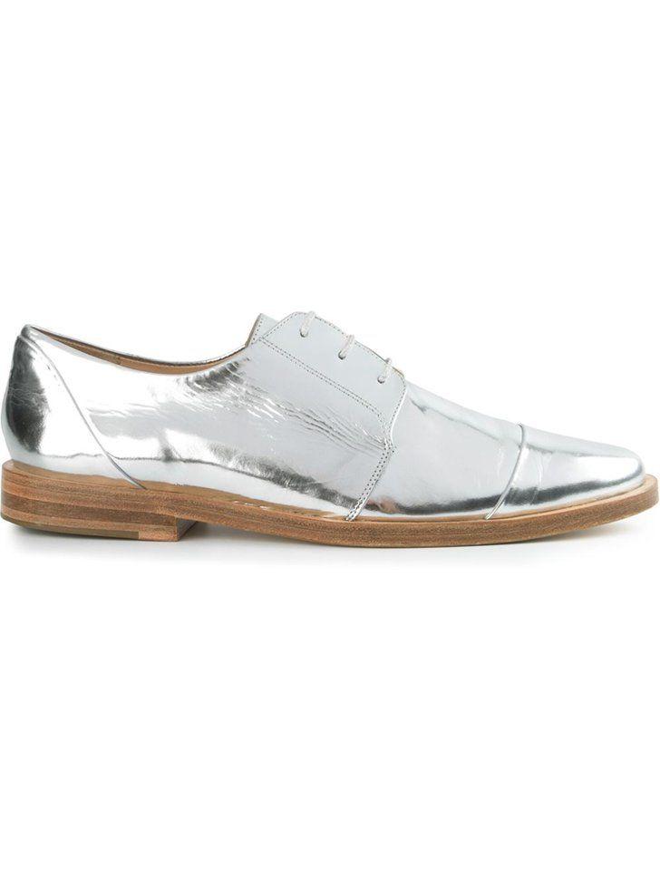 Pin for Later: Sparkle and Shine This NYE With These 35 Metallic Pieces Thakoon Metallic Shoes Thakoon Addition Karolina Metallic Shoes ($365)