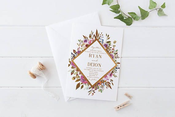 Hey friend! Thanks a bunch for your interest in my Gold Floral Watercolor #Wedding Invitations. I truly hope it's exactly what you wanted! This pretty foil looking invite ca... #thedomesticmom #etsy #wedding #invitations #custom #invites #design #weddinginvitations #blush