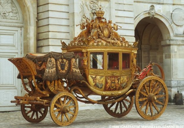 "Carriage for the Coronation of Charles X, King of France    Carrosse du sacre de Charles X, ""Le sacre"""