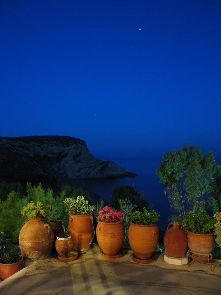 Nightime in Anafi island, Greece. - Selected by www.oiamansion in Santorini.