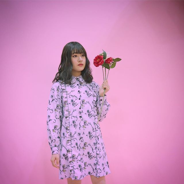 今日のお洋服👱🏻♀️👯♀️🌹 #fashion #flower #花柄ワンピース 2018/02/03 22:36:37