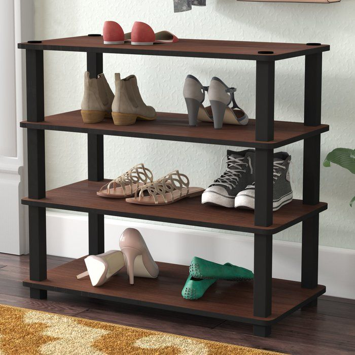 12 Pair Shoe Rack Wooden Shoe Racks Shoe Storage Cabinet Stackable Shoe Rack