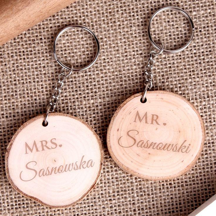 Personalizowany komplet breloczków MR i MRS