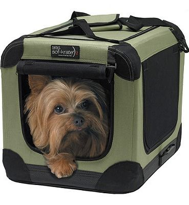 Stylish, lightweight, and washable, this portable dog crate maximizes your pet's comfort in any climate.