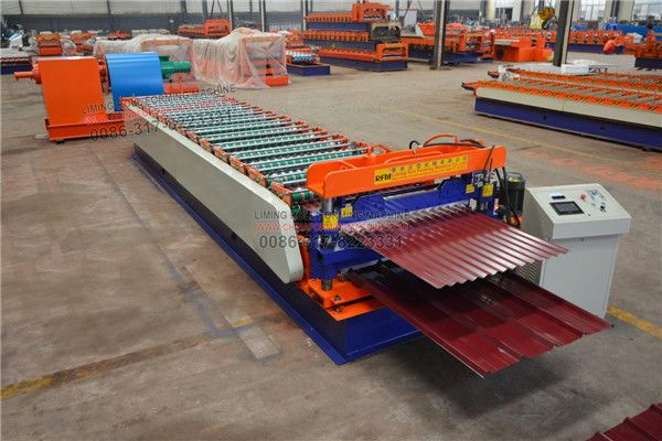 Our #IBR #sheet #and #corrugated #sheet #double #layer #roll #forming #machine consists of the decoiler, feeding plats , roll forming machine, hydraulic cutting system, PLC Control system. The material of rollers is high grade 45# steel, which is quenching treatment and hard chromed treatment. For this machine adopts PLC computer control and frequency transformer, so the machine can work accurately and can control the machine production speed.