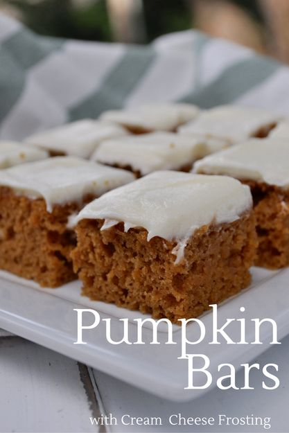 Pumpkin Bars that will change your life! This pumpkin cake is easy to make, and truly the FINEST pumpkin cake I have ever had...bar none!