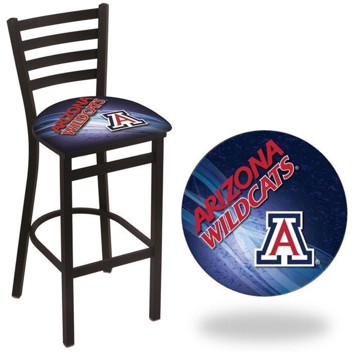 Arizona Wildcats D2 Stationary Ladder Back Bar Stool.  Visit SportsFansPlus.com for Details.