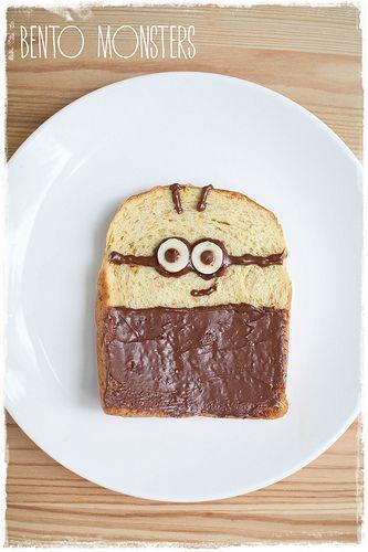 // Nutella Minion toast //