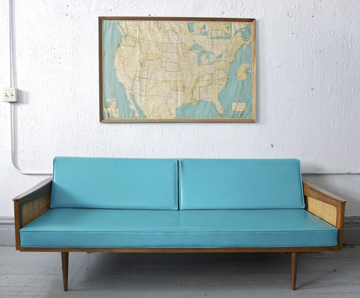 Mid Century / Retro Teal Couch $895 - Chicago http://furnishly.com/catalog/product/view/id/778/s/mid-century-retro-teal-couch/