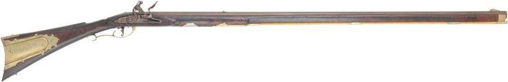 pennsylvania long rifle - .58 caliber - 44 inch swamped barrel - maple - brass trim