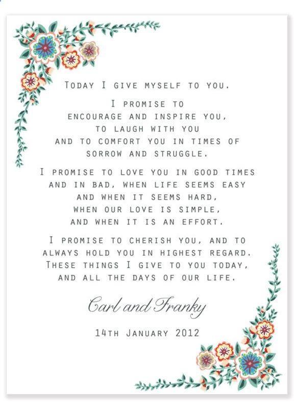 45 Romantic Wedding Readings For Your Wedding Ceremony Cute Marriage Vows Wedding Vows Wedding Readings