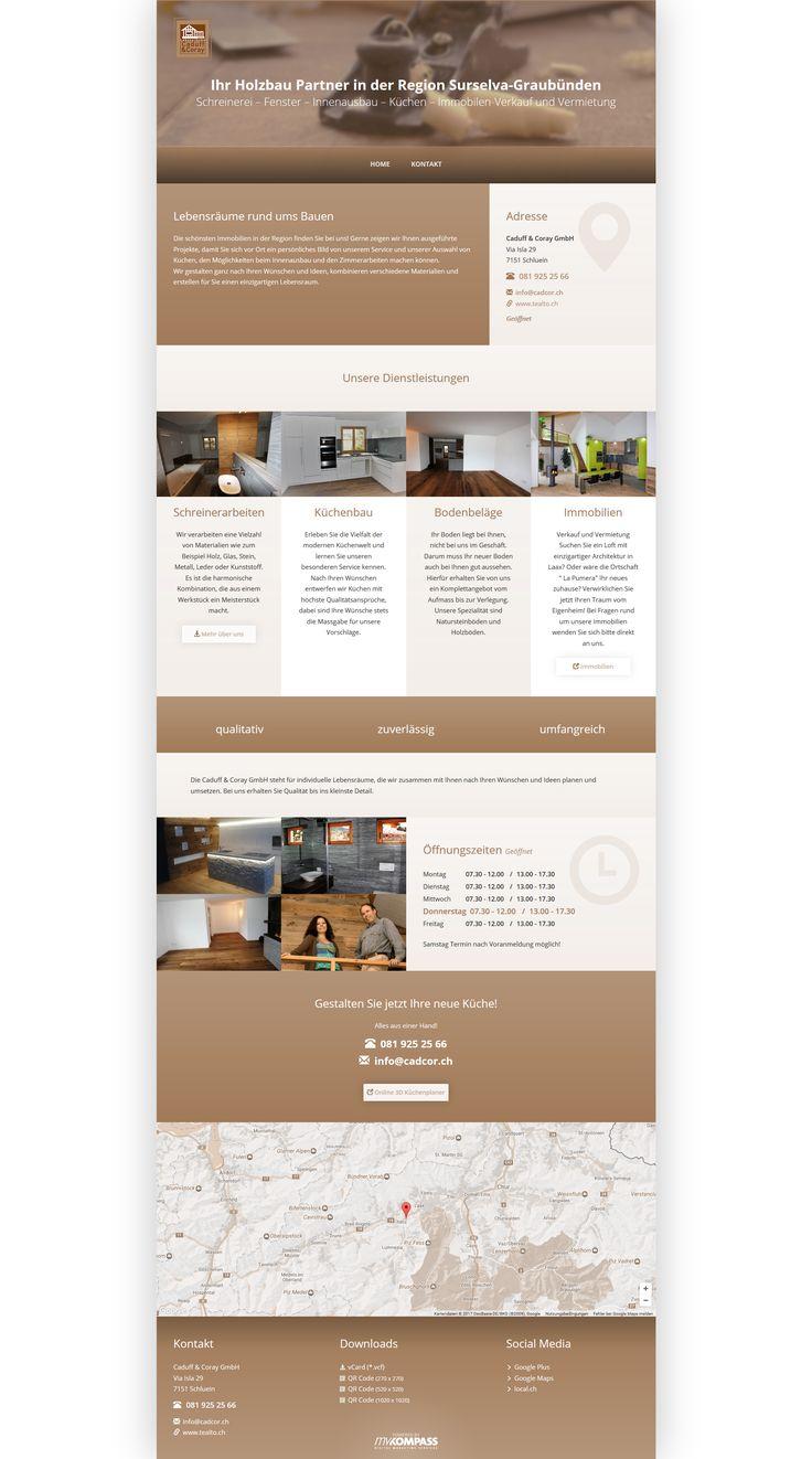 Caduff & Coray GmbH - Ihr Holzbau Partner in der Region Surselva-Graubünden - Schreinerei – Fenster – Innenausbau – Küchen – Immobilen-Verkauf und Vermietung