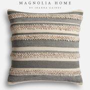 Magnolia Home Zander Gray & Ivory Oversized Pillow