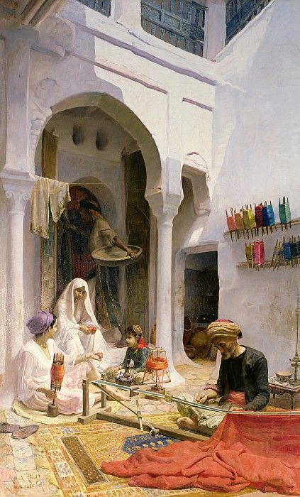An Arab Weaver, 1886 by Point, Armand (1861-1932); oil on canvas. info.: Un Tisserand arabe