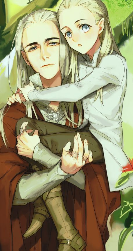 Thranduil and Legolas by OMIX. I just can't get over little manga Legolas. He's just so adorable!