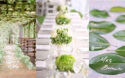 Decorazioni per un matrimonio in verde - Idee in verde per le tue nozze