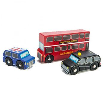 Ξύλινες ρεπλίκες οχημάτων Λονδίνου της Le Toy Van