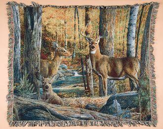 """Wildlife Southwestern Throw Blanket 50""""""""x60"""""""" - Deer (st13)"""