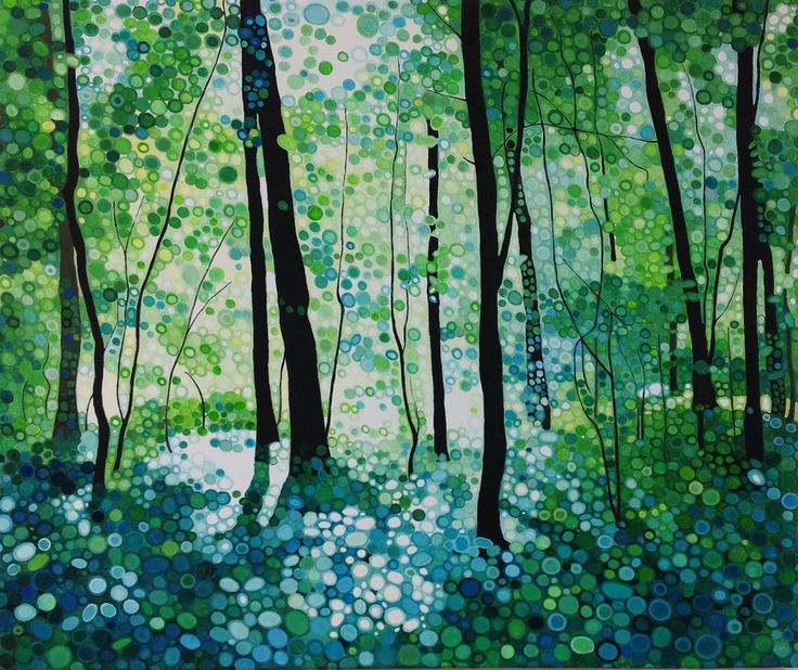 Ewa Adams Bright Light Acrylic on Canvas 50 x 60 cm £ 1,950  #Art #Paintings #Exhibitions #Surrey