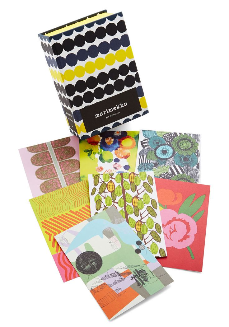 Fashionably Yours Postcard Set. Spread word of your stylish adventures with these iconic Marimekko postcards from Chronicle Books! #multi #modcloth