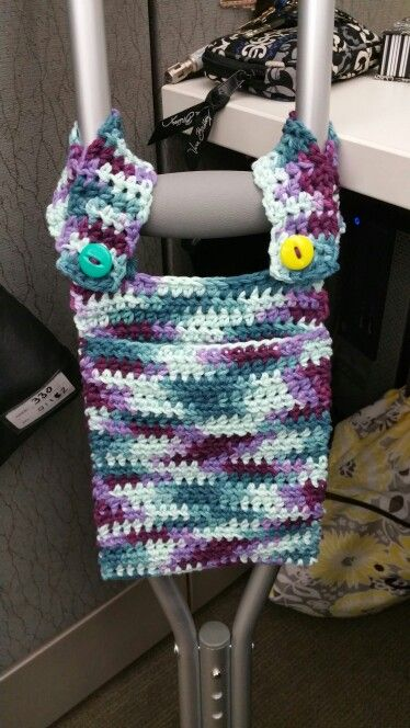 Crochet Pocket for Crutches