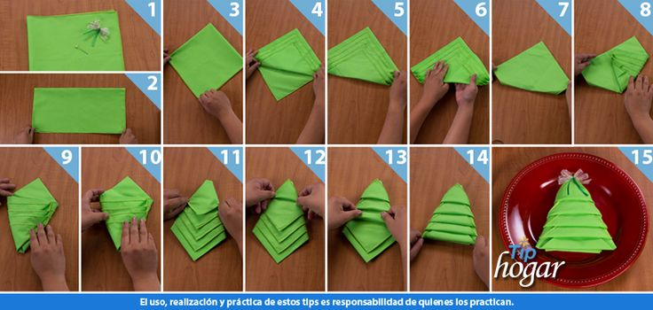 122 best images about ideas navide as on pinterest mesas - Doblar servilletas para navidad ...