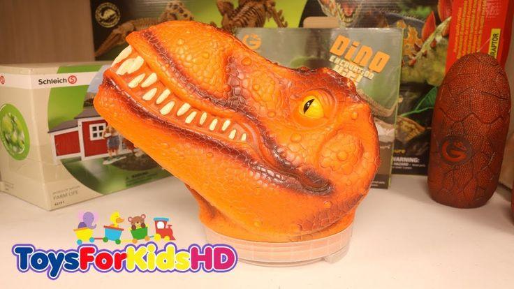 Dinosaurios para niñosCabeza de Dinosaurio de Juguete Tyrannosaurio Rex  Juguete de Dinosaurios