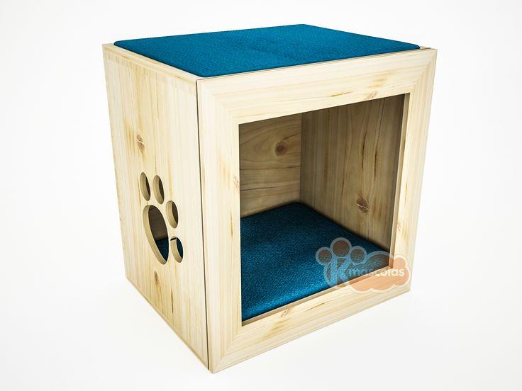 Camas con estilo para tus mascotas.  Modelo: Hypnos /  Medidas: 45x45x40 cms. /  Visitanos en www.kmascotas.cl