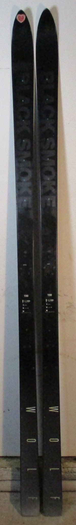 Used Wolf Ski Company Black Smoke 190 cm Snow Ski For Sale