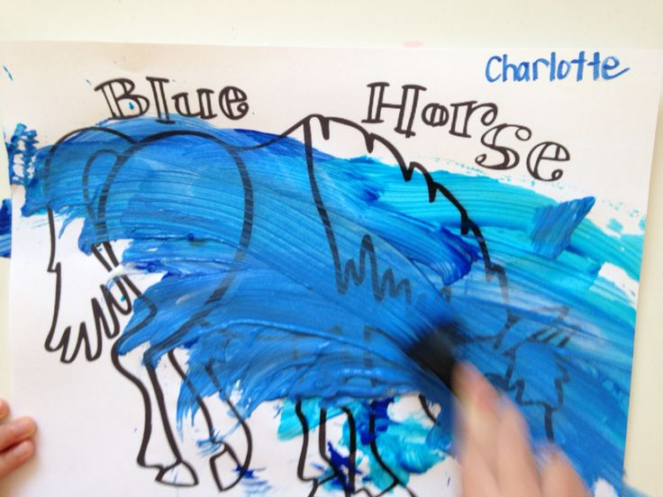 Blue Horse for blue day! Eric Carle