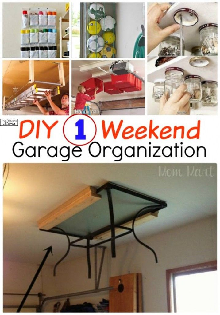 Organize your entire garage in one weekend! Brilliant ideas to store just about everything!