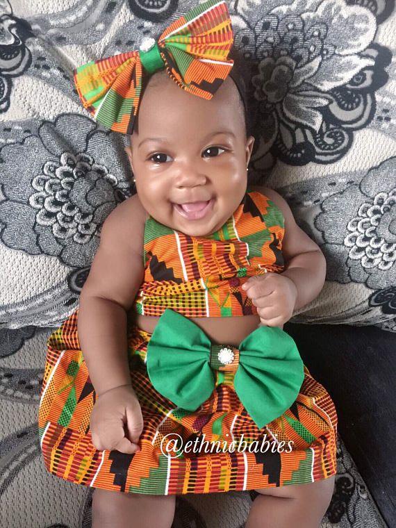 Jupe Africaine  African Babygirl V U00eatements B U00e9b U00e9 Set
