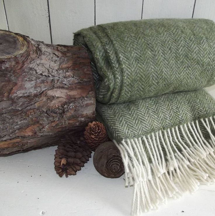 Irish Herringbone Tweed Wool Throw - Green 100% Irish woollen hand-crafted throw. All our throws are handmade in a local mill with design & colour inspiration taken from the dramatic landscapes & coastal views of Ireland. The highest quality of craftmanship is put into making each throw that will last a lifetime. We have hand picked our collection of throws to compliment the natural colours and fabrics of the Rustic Country Crafts range. The luxury woollen throws will bring stunning ...