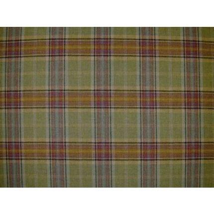 Living Room Navy Curtains And Tartan Cushions