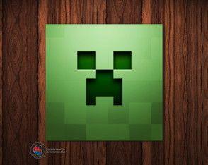Adesivo Caixa Acrílica Creeper Minecraft