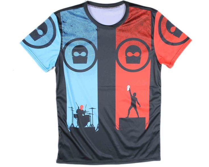 Mens 3D printing Twenty One Pilots t-shirts