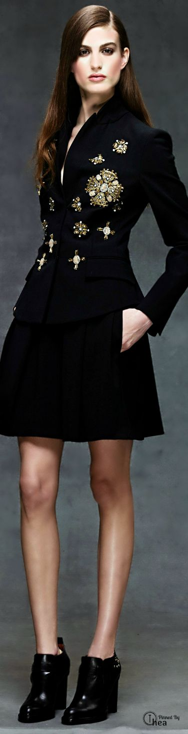Alberta Ferretti ● Pre-Fall 2014 black embellished coat