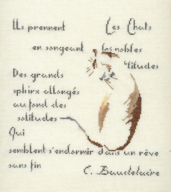Chats et poème de Beaudelaire