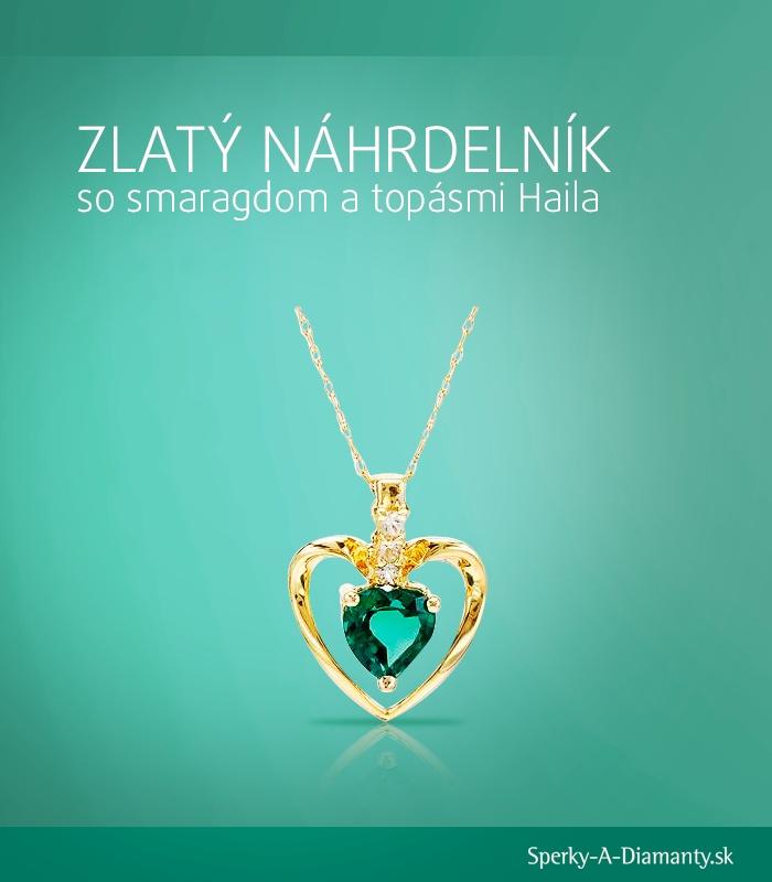 Zlatý náhrdelník so smaragdom | Emerald necklace