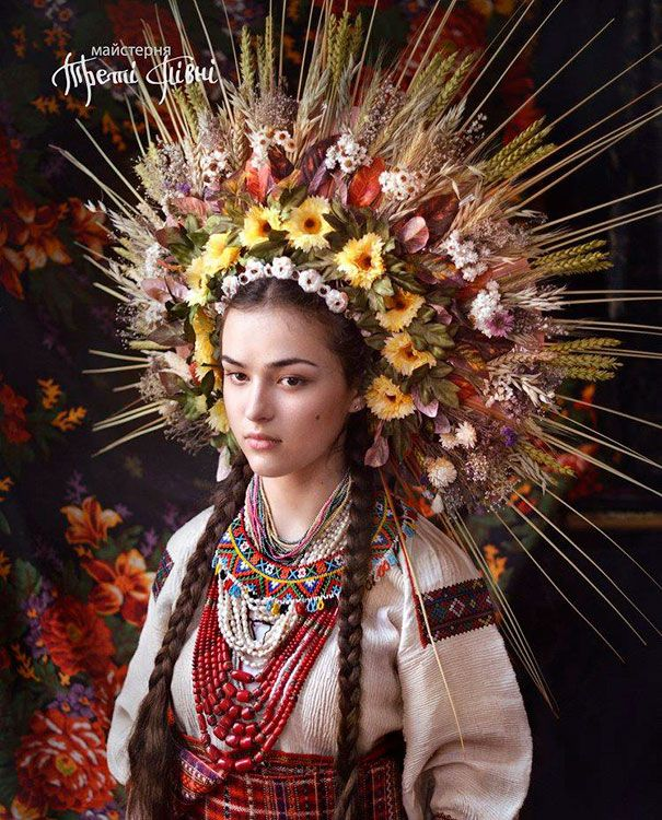 Traditional Ukrainian Crowns - Modern Women Wearing Traditional Ukrainian Crowns Give New Meaning To Ancient Tradition