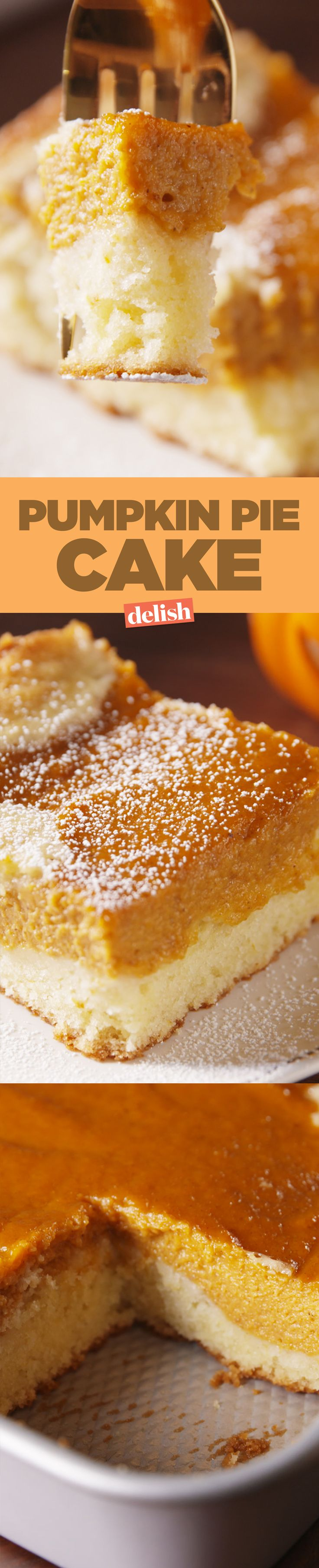 People are obsessed with Pumpkin Pie Cake, and for a good reason. Get the recipe on Delish.com.