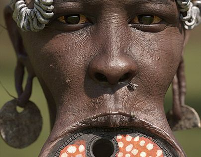 """Check out new work on my @Behance portfolio: """"Portrait of Mursi tribal woman with large lip plate"""" http://be.net/gallery/59988011/Portrait-of-Mursi-tribal-woman-with-large-lip-plate"""