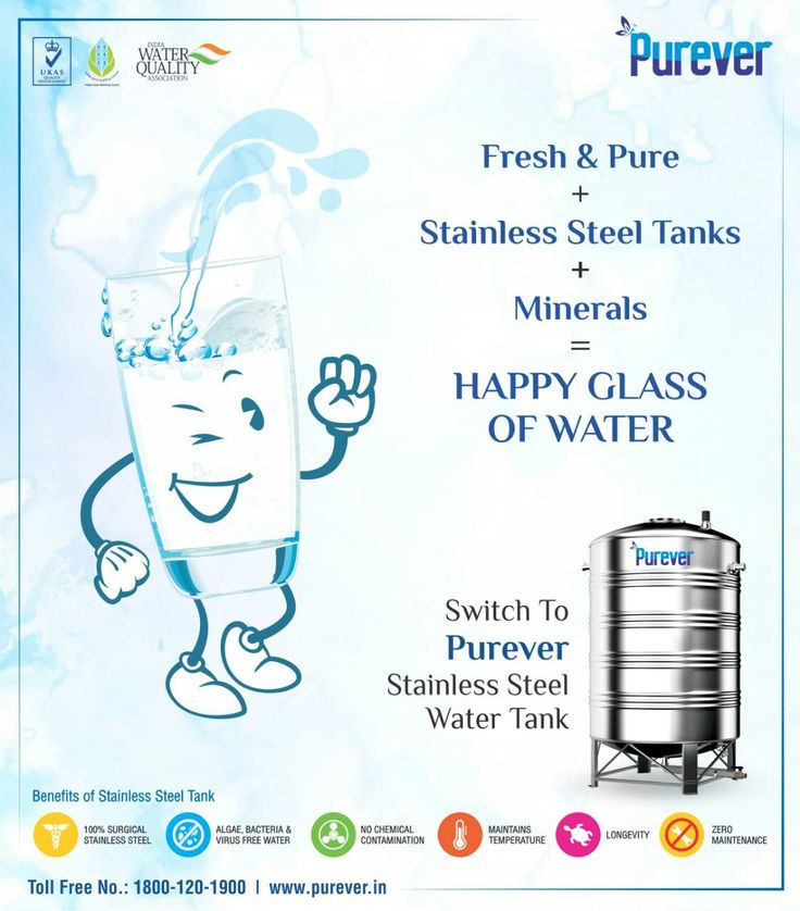 #PUREVER #Fresh&Pure #Minerals #HappyGlassOfWater #SwitchTo #StainlessSteelWaterTank. http://www.purever.in/