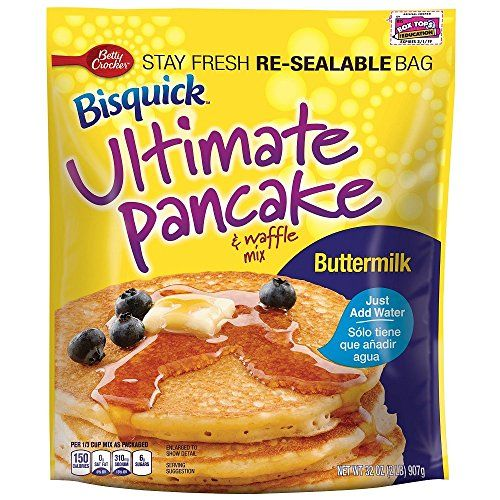 Betty Crocker Baking Bisquick Buttermilk Ultimate Pancake and Waffle Mix 32 Ounce  2 pack ** Check this awesome product by going to the link at the image.