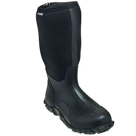 Bogs Men's 60142 Waterproof Black Rubber Waterproof Boots