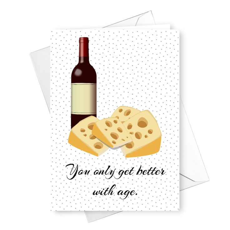 You only get better with age Birthday Card